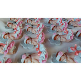 20 Lembrancinha Bebe Em Biscuit Ima( Menina Maternidade)