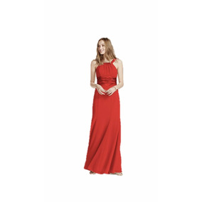 Lilasori Vestido D Fiesta Importado Color Persimmon Talla 11