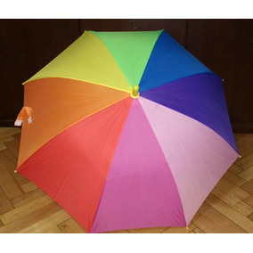 Paraguas Infantiles Arco Iris Multicolor Nuevos. X10 Lluvia