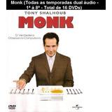 Monk Completo Dual Áudio 1ª Á 8ª Temporada Frete Grátis!