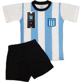 Pijama Niños Futbol Racing Club Jovenes Equipo Remera Short