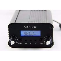 Transmissor De Fm 7w Estéreo C/ Lcd Pll Com Antena