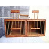 Caixa P/transporte De Pássaros Tipo Curió / 2 Compartimentos