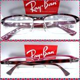 Rb7014 Armação Óculos Esportivo Receituário Tartaruga/ Rosê