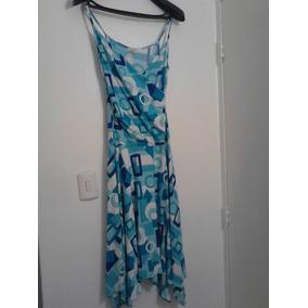 Vestido Casual Coctel Azul Talla S /stretch