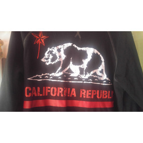 Sudadera California Republic So Cal Red Star Black Bear Oso