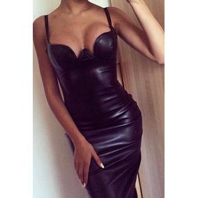 Sexy Mini Vestido Negro Brilloso De Tirantes Espalda Desnuda