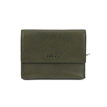 Bolso Furla Classic Leather Small Wallet In Army Green !