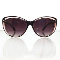 Óculos De Sol Gatinho Retrô Vintage Rosê Preto Triton