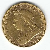 Moeda 1 Libra Ouro .917 (7,98g) Rainha Victoria 1901 #15