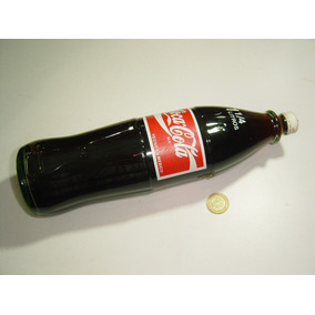 Botella Coca Cola 1 1/4 Litro Vidrio Verde Tapa Rosca Metal