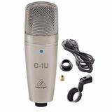 Micrófono Behringer C-1u Usb De Condensador + Envio
