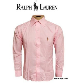 Camisa Social Ralph Lauren Rosa Masculina R104