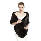 Beautelicate Women's Faux Fur Shawl Stoles Abrigo Para