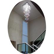 Lustre De Cristal Pé Direito Alto De 1,50 Até 2,15 Metros