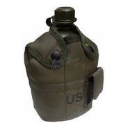 Cantimplora Militar Americana 3 En 1 / 1 Litro Verde Origina