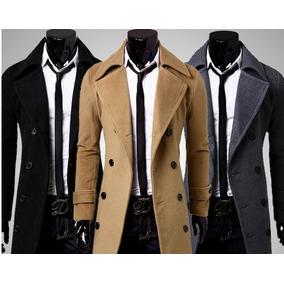 Saco Largo - Casaca Masculino Zipper Fashion Fake