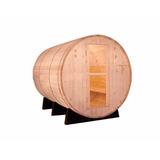 Cabina Sauna Barril Madera Spruce 4-5 Personas Piscinería