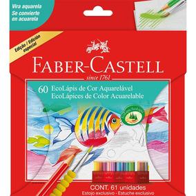 Lápis De Cor Aquarelável Faber Castell 60 Cores