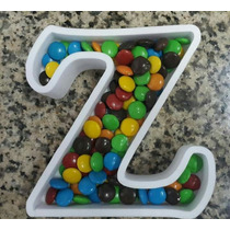 Letras Huecas Para Candy Bar 15cm Alto - Valor Unitario
