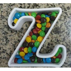 Letras Huecas Candy Bar 16cm Alto Para Confites Caramelos