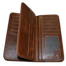 Carteira Unissex Porta Cartões Notas Cnh Dinheiro Couro Pu