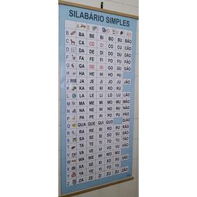 Kit 3 Painéis - Silabário Simples + Dificuldades + Numerais