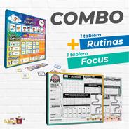 Combo Tablero De Rutinas + Tablero Focus Ms
