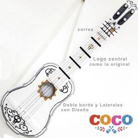 :guitarra Pelicula Coco Con Correa+ Diseño De Laterales