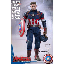 Os Vingadores 2 Capitão América Age Of Ultron 1/6 + Chaveiro