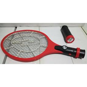Raqueta Eléctrica Recargable Con Lampara Mata Insectos