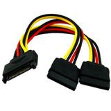 Cable Power Sata Hembra A 02 Machos