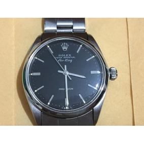 Reloj Rolex Air King Airking 5500 Black Acero 60´s Original