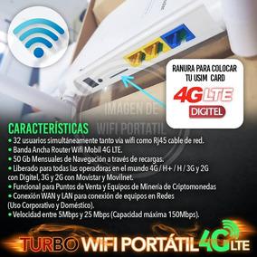 Multi Bam Digitel 4g + Línea 4g 200gb De Navegación Mensual