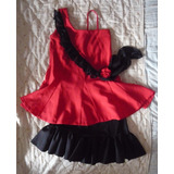 Disfraz Traje De Bailarina Salsa Casino Talla 10