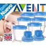 Avent Kit 10 Vasos Leche & Comida C Adaptador Mamila Philips