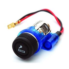 Acendedor Azul Isqueiro Automotivo Gps Celular Carregador