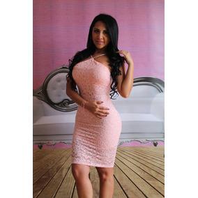 Lindo Vestido Color Rosa Al Cuerpo