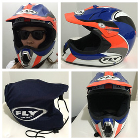 Capacete Motocross Feminino Importado - Fly