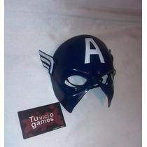 Máscara De Polietileno Tipo Careta De Capitan America