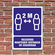 Señalamiento Mantener Distancia De Seguridad 24x34 Cm