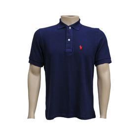 Camisa Gola Polo Azul Marinho Lisa - Calçados ab70dfeb9a32b