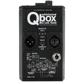 Gerador Whirlwind Qbox Mic/line Tester + Nfe