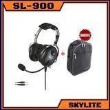 Headset Fone Aeronáutico Aviação Avião Piloto Skylite Sl-900
