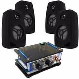 Kit Ambiente 4 Caixa De Som + Amplificador Orion Musica Casa