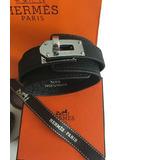 f4295b2a5f7 Pulseira Bracelete Kelly Hermès Em Couro Epsom Black