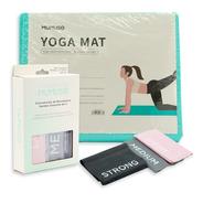 Kit Sport Tapete Yoga Y Bandas De Resistencia