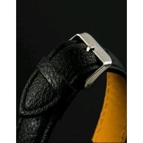 Reloj De Cuarzo De Acero Inoxidable Negro