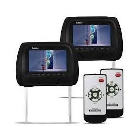 Par De Cabeceira Pra Carro Com Monitor 7 Lcd Com Controle