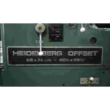 Máquina Heidelberg Bicolor 52 X 74 Cm.